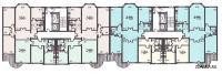 п3м - серии домов - Планировка жилой секции дома серии п3м