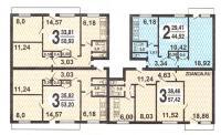 Серия 1-515/9м - 1-515/9M типовые планировки квартир в домах серии