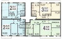 Серия 1-515/9м - типовые планировки квартир в домах серии 1-515/9M