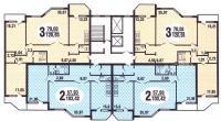 Призма - планировка жилой секции дома серии Призма
