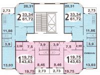 ИП-46С - ип46с планировка квартир в жилой секции дома серии