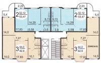 п3м - серии домов - Типовые планировки квартир в жилых домах серии п3м