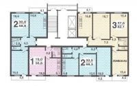РД-90 - типовые планировки квартир в жилой секции дома серии  рд 90