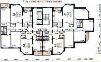 МПСМ - Типовые планировки квартир в жилой секции дома серии МПСМ