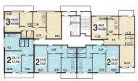 И-491А - типовые планировки квартир в жилой секции дома серии и491а