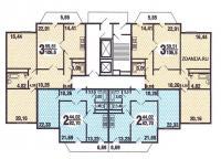С220 - типовые планировки квартир в жилой секции дома серии C220