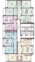 п3-м7 / 23 - п3-м7-23 планировка квартир в жилой секции дома серии