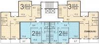 Дома серии п55, планировки квартир  - п55 типовые планировки квартир в жилой секции дома серии