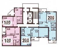 Дома ГМС-3 - Планировка квартир в жилых домах серии гмс 3