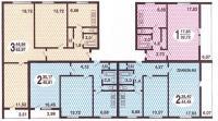 Дома серии 1605, 1605-АМ/9, 1605-АМ/12, планировка квартир - Планировки квартир серии 1605-АМ/12  ( иногда об. как 1605-12 )