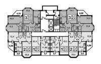 И-1723 - Планировка квартир в жилых домах серии и1723
