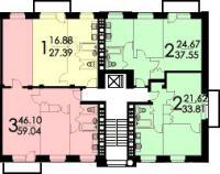 Кирпичные дома серии II-29 - II-29 планировки квартир в домах серии