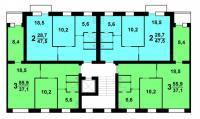 1-447С-47 - Планировки квартир в домах серии 1-447С-47